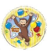 "34"" Curious George Giant Shaped Foil Balloon Bulk"