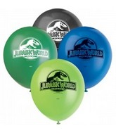 "12"" 8 Count Jursasic World Balloons 2 Sided"