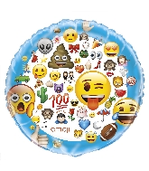 "34"" Giant Shaped Foil Balloon Emoji Emoticon"