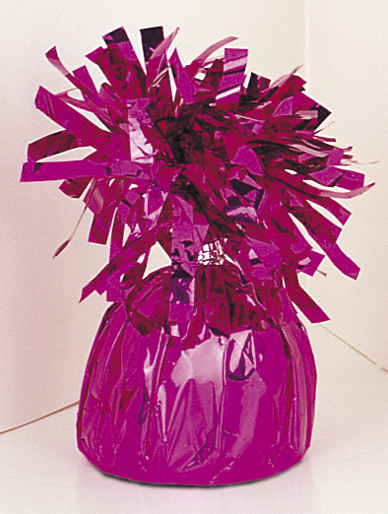6OZ Magenta Foil Wrapped Balloon Weight