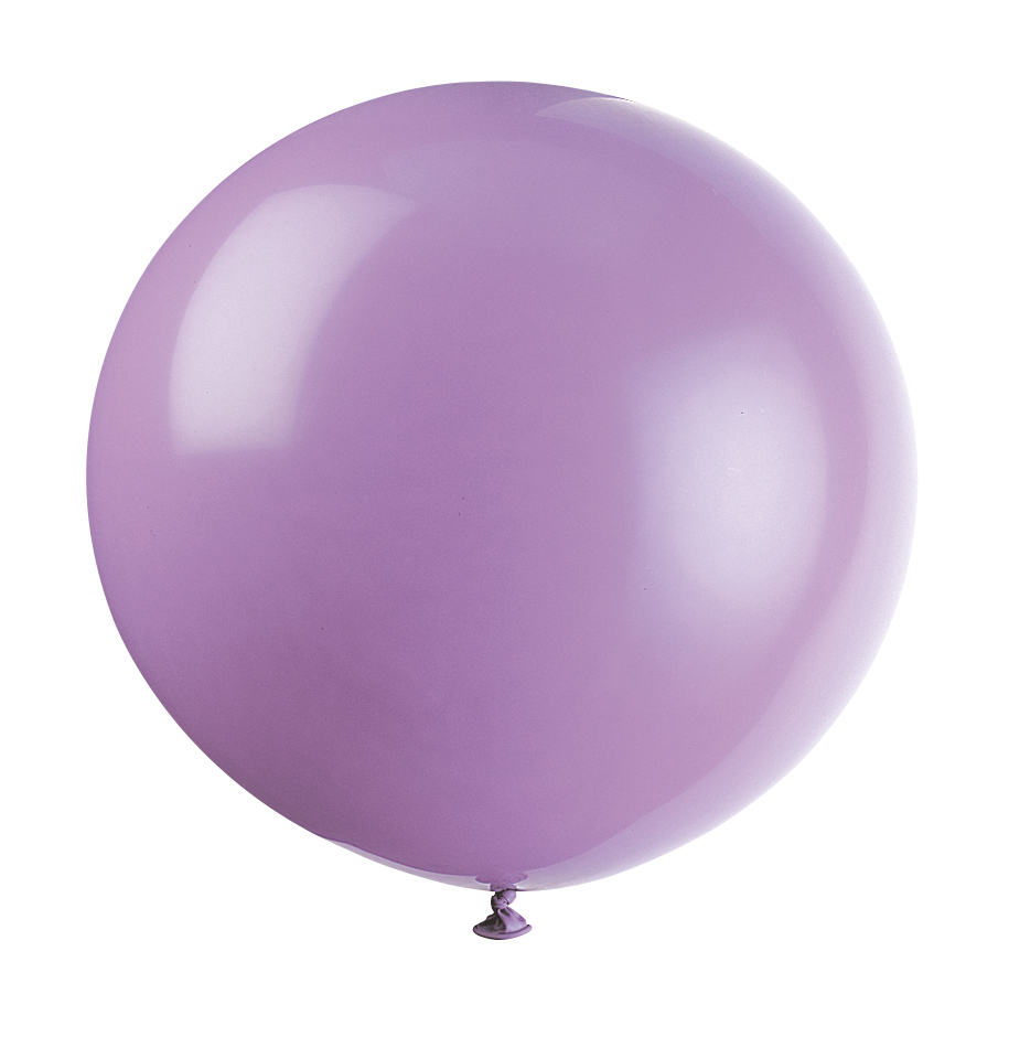 "36"" STD Lilac/Lavender Latex Balloons 6 Pack"