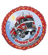 "18"" Fast Fire Engine Birthday Balloon"