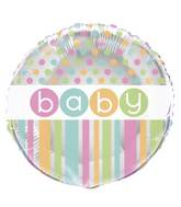 "18"" Packaged Baby Pastel Balloon"