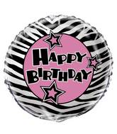 "18"" Zebra Passion Foil Balloon Packaged"