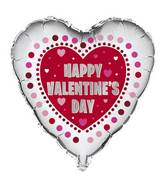 "18"" Happy Valentines Day Radiant Hearts Foil"