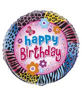 "18"" Wild Birthday Foil Balloon"