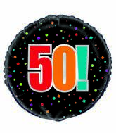 "18"" 50th Birthday Cheer Foil Balloon"