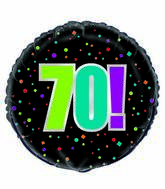 "18"" 70th Birthday Cheer Foil Balloon"