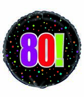 "18"" 80th Birthday Cheer Foil Balloon"