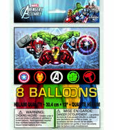 "12"" Avengers Assemble Assorted Colors 8 Count"