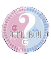 "18"" Gender Reveal Pink & Blue"