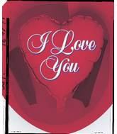 "18"" I Love You Script Red"