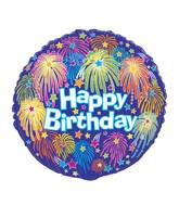 "18"" Birthday Fireworks Foil Balloon"