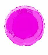 "18"" Hot Pink Round Solid Color Foil Balloon"
