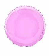 "18"" Pastel Pink Round Solid Color Foil Balloon"