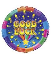 "18"" Rainbow Good Luck Foil Balloon"
