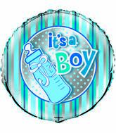 "18"" It&#39s A Boy Bottle Foil Balloon"