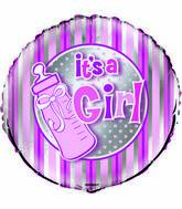 "18"" It&#39s A Girl Bottle Foil Balloon"