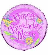 "18"" Floral Birthday Mom"