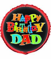 "18"" Bold Birthday Dad Foil Balloon"
