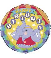 "18"" Packaged Circus Birthday Foil"