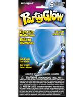 "10"" Twilight Blue Solid Color Light Up Airfill Balloons 5Ct"