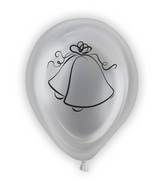 "10"" Wedding Bells Light-Up Airfill Balloons 1-Sided 5Ct"