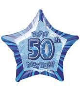 "20"" Happy 50th Birthday Star Prism Balloon"