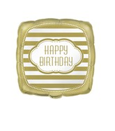 "18"" Foil Balloon Happy Birthday Golden"