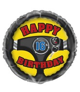 "18"" Foil Balloon First Car 16th Birthday"