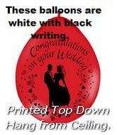 "9"" Latex Balloons Congratulations Wedding Neck Up"