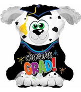 "21"" X 21"" Big Dog Grad Shape-A-Loon Balloon"