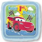 "18"" 1st Birthday Disney Cars Mylar Balloon"