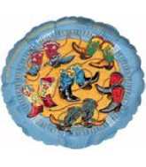"18"" Boot Scootin Blue Boarder Balloon"