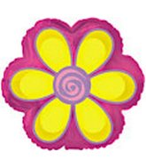 "9"" Airfill Yellow Daisy Flower Shape"