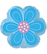 "9"" Airfill Blue Daisy Flower Shape"
