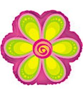 "9"" Airfill Lime Green Daisy Flower Shape"