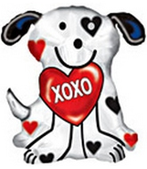 "24"" XOXO Dalmatian Dog Balloon"