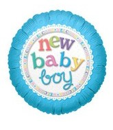 "9"" Airfill New Baby Boy Balloon"