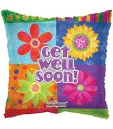 "9"" Airfill Get Well Floral Blocks"