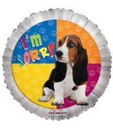 "9"" Airfill Only I&#39m Sorry Dog Balloon"