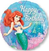 "18"" Happy Birthday Little Mermaid Balloon"