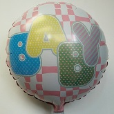 "18"" Baby Checks Mylar Balloon"