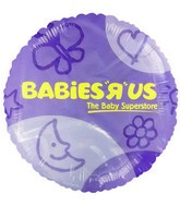 "18"" Babie&#39s R US Purple Promotional Mylar Balloon"