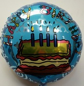"18"" Birthday Cake Mylar Balloon"