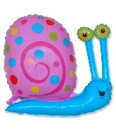 "27"" Blue Head Pink Snail Balloon"