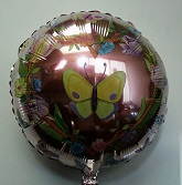 "18"" Flowers And Butterflies Mylar Balloon"