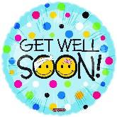 "18"" Get Well Balloon Polka Dots Bandages"