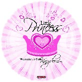 "18"" Little Princess (Girl) Welcome to the Kingdom Balloon"