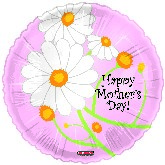 "4"" Airfill Only Happy Mother&#39s Day Balloon Trendy Flowers"